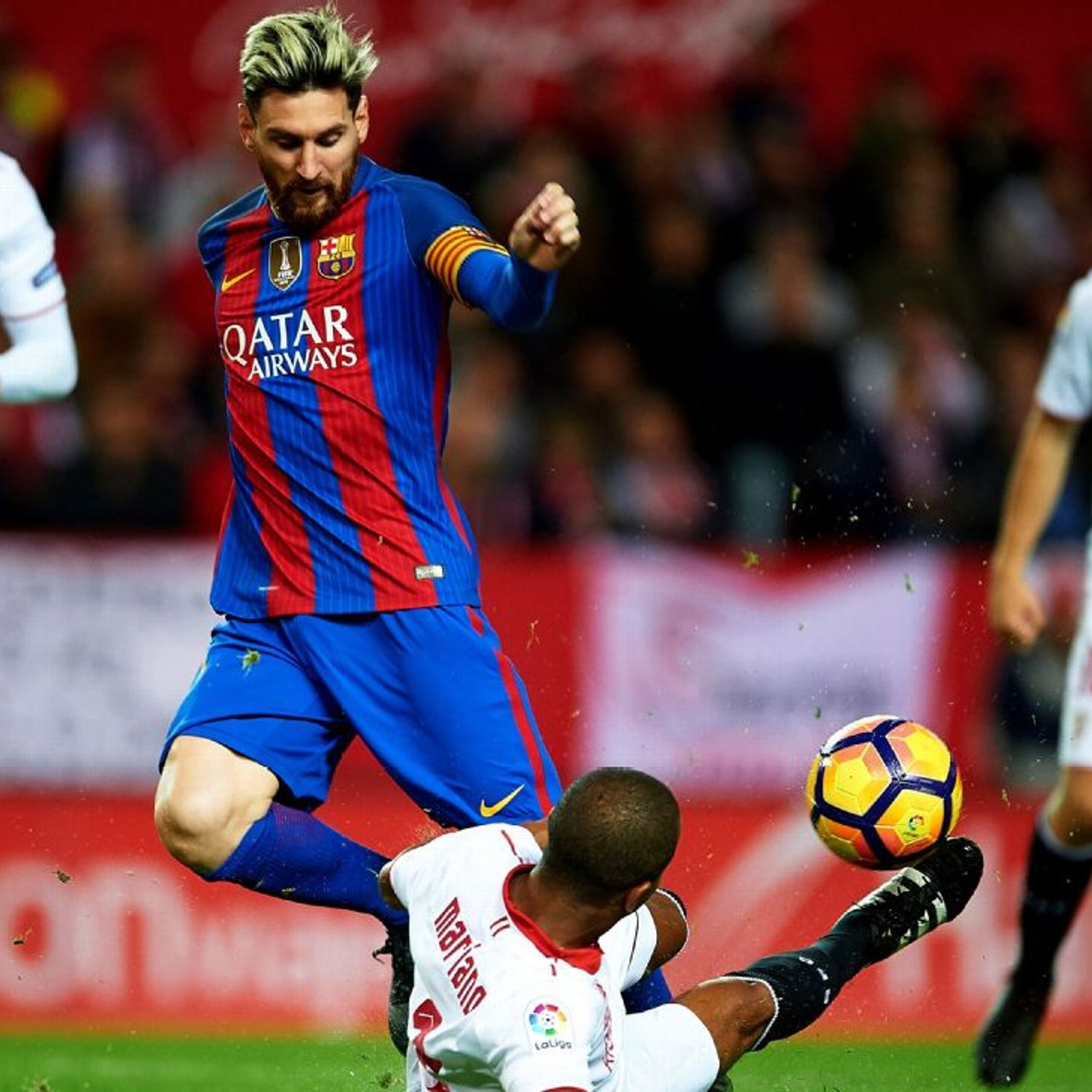 caad53e9a Barcelona to appeal Lionel Messi yellow card in defeat of Sevilla ...
